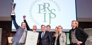 Finale OndernemersPrijs Haaglanden 2019 met winnaar JEM-id uit Honselersdijk.