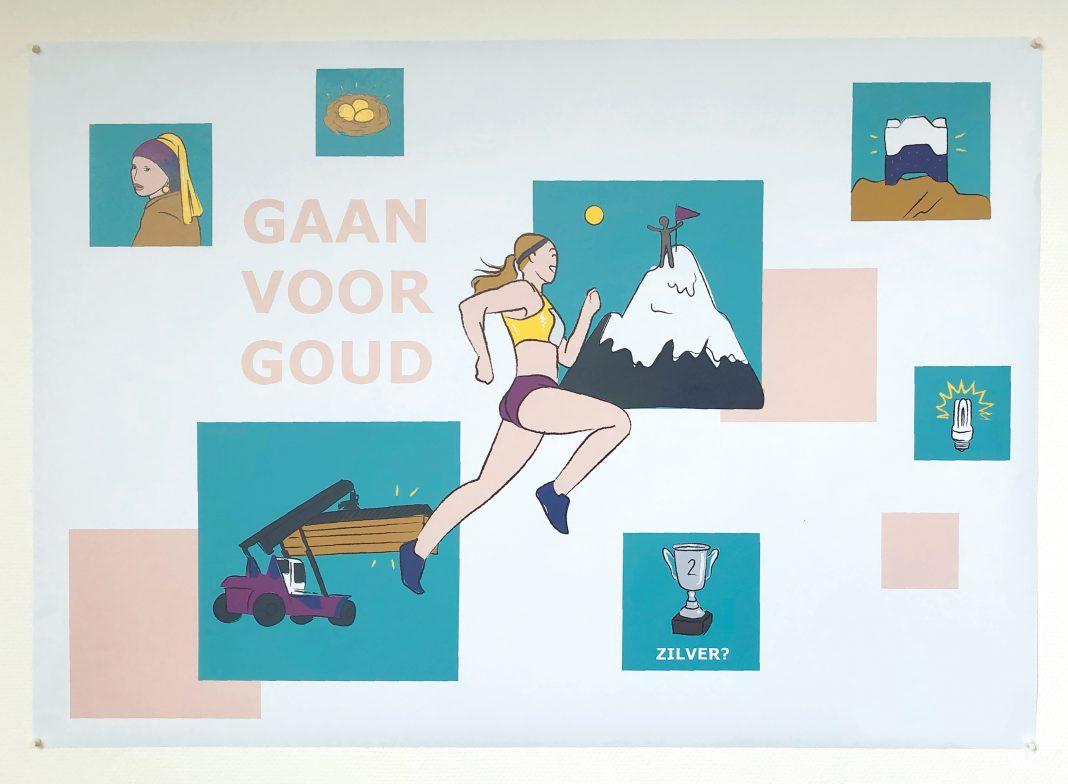 Illustratie Lieneke Post, Gaan voor goud