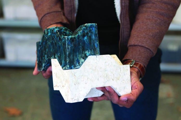 UniBrick gemaakt van plastic afval