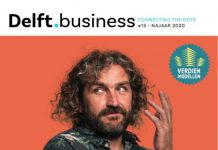 Cover Delft.business #15 met model Pim van den Akker