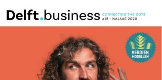 Cover Delft.business #15 met model Pim van den Akker