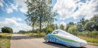 Op de foto zie je een waterstofauto van EcoRunner